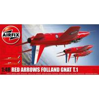 A05124 - Red Arrows Folland Gnat T.1 (1:48)