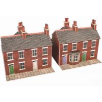 PN103 N Scale Red Brick Terraced Houses