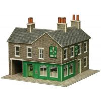 PN117 N Scale Corner Shop & Pub (Stone Effect)