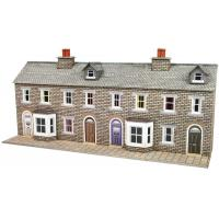 PN175 N Scale Low Relief Terraced House Fronts (Stone Style)