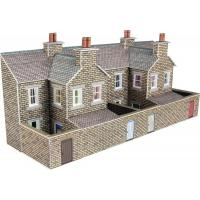 PN177 N Scale Low Relief Terraced House Backs (Stone Style)