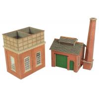 PO227 OO/HO Scale Low Relief Stone Terrace House Back
