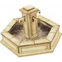 Metcalfe - PO522 - Stone Fountain Card Kit (00/H0 Scale)