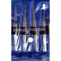 GM609 Set of 4 Stanless Steel Tweasers
