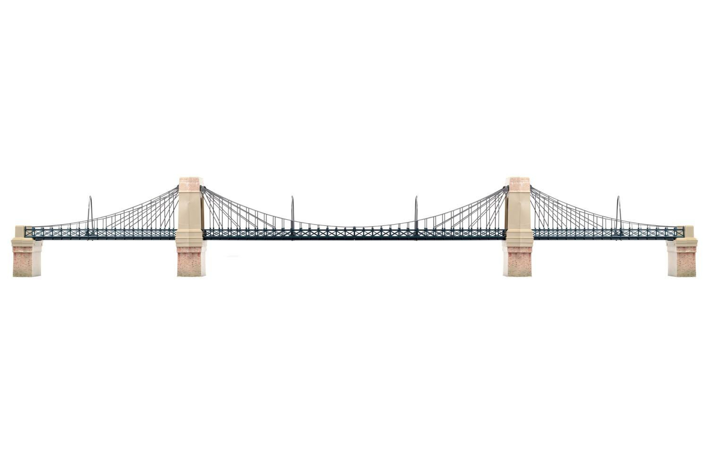 Hornby - R8008 Grand Suspension Bridge Kit | Roxley Models