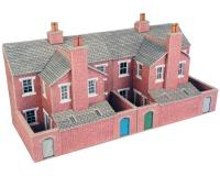 Metcalfe - PO276 - Low Relief Red Brick Terraced House Backs (00 Scale)
