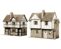 Superquick - B28 - Two Elizabethan Cottages Card Kit (00 Scale)