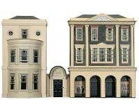 Superquick - C4 - Regency Period Shops & House Card Kit (00 Scale)