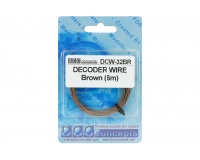 DCC Concepts - DCW-BBT - Wire Decoder Stranded 6m (32g) Brown