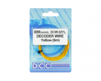 DCC Concepts - DCW-32YL - Wire Decoder Stranded 6m (32g) Yellow