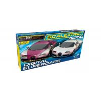 Scalextric Digital Super Cars Set - 2 Bugatti Veyrons
